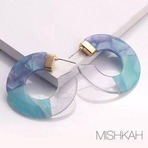 Just In🎉Trendy Clear/Blue Acrylic CShape Earrings